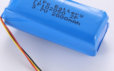 3.7V LiPo Battery Packs LP102050 2P 2000mAh