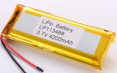 Long 3.7V Rechargeable LiPo Battery LP113488 4200mAh