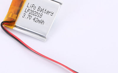 LP202018 Rectangle 3.7V LiPo Battery 42mAh