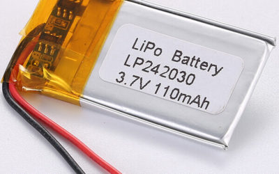 Small 3.7V Rechargeable LiPo Battery LP242030 110mAh