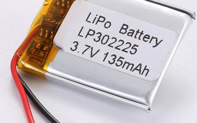 3.7V LiPo Battery LP302225 135mAh Design for Wearable Prototypes