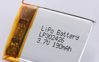 Rectangle LiPo Battery 3.7V LP302426 190mAh