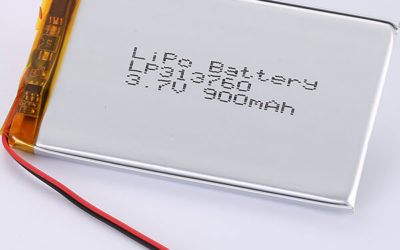LiPo Battery LP313760 900mAh 3.7V 3.33Wh