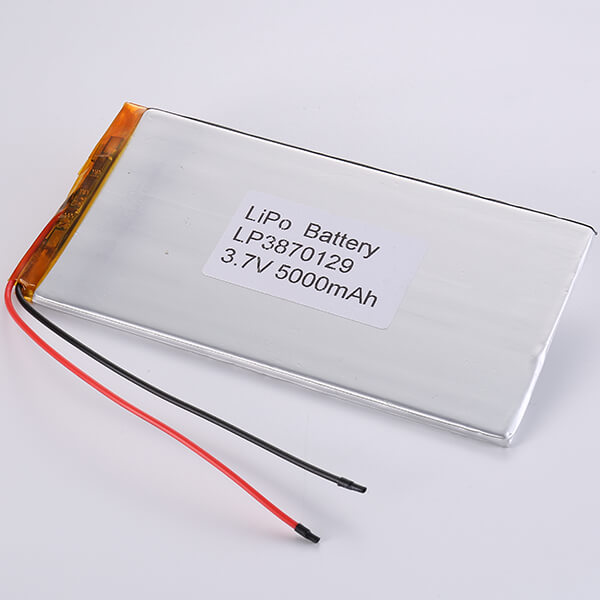 3.7V Rechargeable LiPo Battery LP3870129 5000mAh
