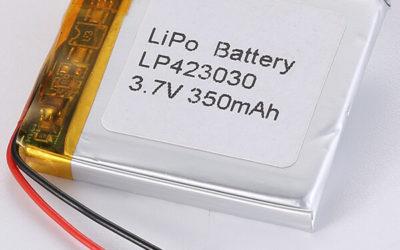 Square LiPo Battery LP423030 3.7V 350mAh