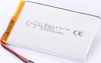 3300mAh LP446598 3.7V LiPo Battery Made in China