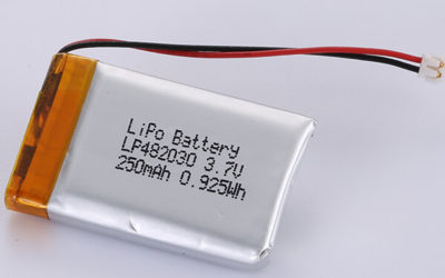 3.7V Rechargeable LiPo Battery LP482030 250mAh
