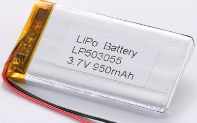 Authorized LiPo Battery Manufacturer LP503055 3.7V 950mAh