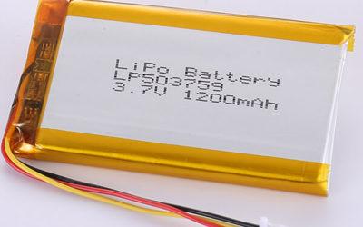 Hot Seller LiPo Battery LP503759 3.7V 1200mAh