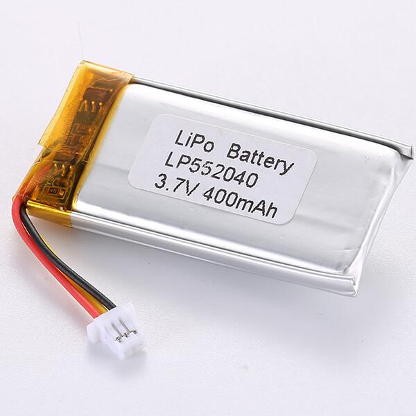 Regular 3.7V LiPo Battery LP552040 400mAh
