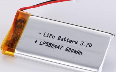 Hot Seller LiPo Battery LP552447 3.7V 600mAh