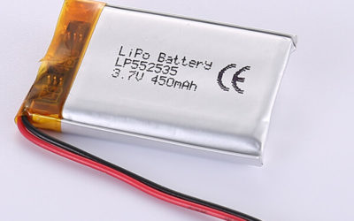 3.7V Rechargeable LiPo Battery LP552535 450mAh