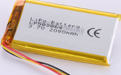 3.7V Standard LiPo Battery LP583864 2080mAh