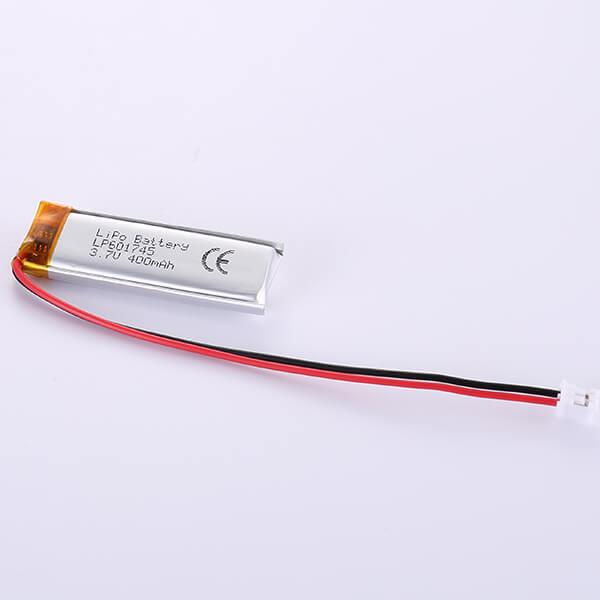 Narrow LiPo Battery 3.7V LP601745 400mAh