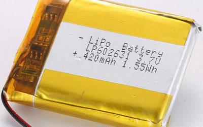 LP602631 3.7V LiPo Battery 420mAh Industrial Expert