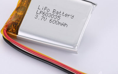 LP603035 Rechargeable LiPo Battery 3.7V 600mAh