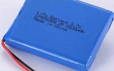 LiPo Battery Packs 3.7V LP655368 5500mAh Rechargeable Battery