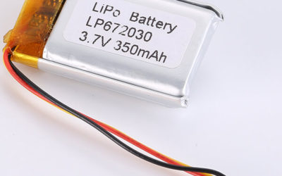 Small LiPo Battery 3.7V LP672030 350mAh