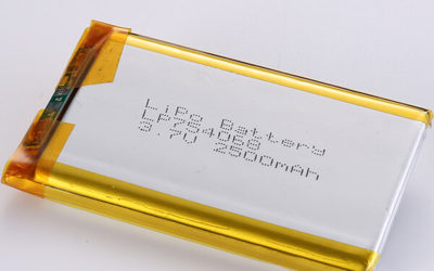 2500mAh LP754068 3.7V LiPo Battery Free Consultation