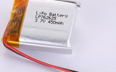 3.7V LiPo Battery LP762625 450mAh 1.665Wh