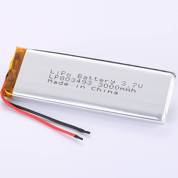 3.7V LiPo Battery LP803493 3000mAh Quality China Manufacturer