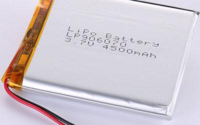 3.7V Rechargeable Rectangular LiPo Battery LP906070 4500mAh
