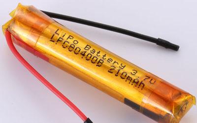 Special Shape Li-ion Battery 3.7V LPC80400B 210mAh