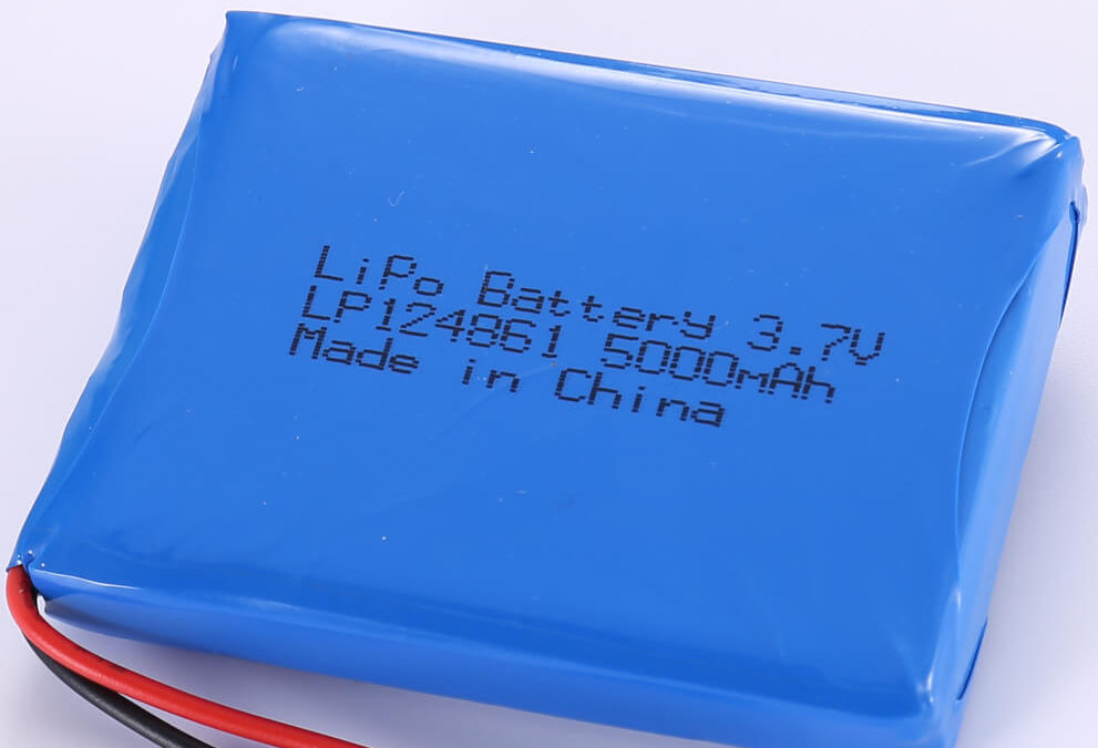 3.7V Rectangle LiPo Battery LP124861 5000mAh