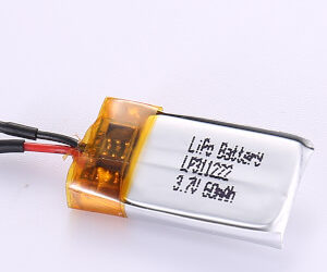 3.7V Rechargeable LiPo Battery LP311222 60mAh