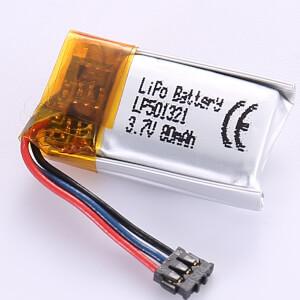 3.7V Rechargeable LiPo Battery LP501321 80mAh