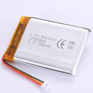 3.7V LiPo Battery LP503648 850mAh 3.15Wh