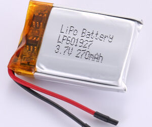 3.7V Rechargeable LiPo Battery LP601927 270mAh