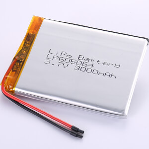 3.7V Standard LiPo Battery LP605064 3000mAh Capacity