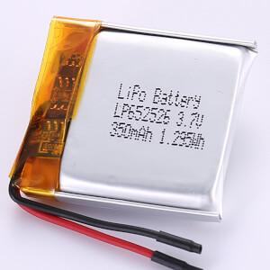 3.7V Square LiPo Battery LP652526 350mAh