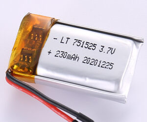 230mAh Small LiPo Battery LP751525 3.7V