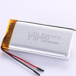 3.7V Rectangular LiPo Battery LP852853 1400mAh