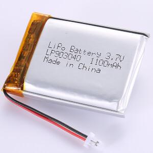 High Quality LP903040 1100mAh LiPo Battery 3.7V
